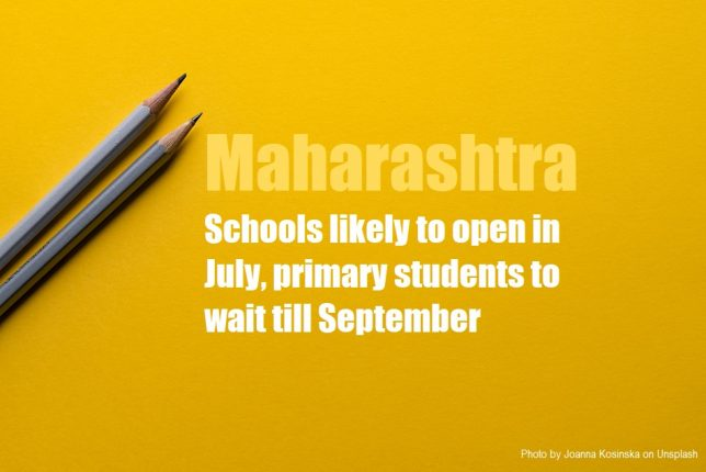 Maharashtra likely to open schools in July, primary students to wait till September
