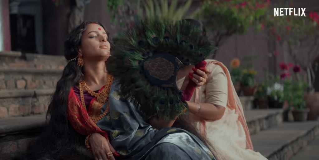 Tripti Dimri in still from the movie Bulbbul on Netflix