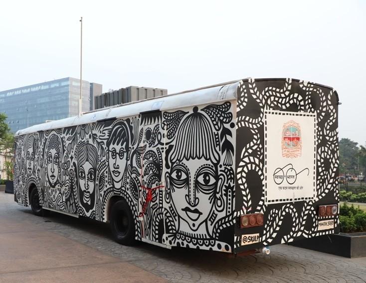 Next Stop NMMC's Upcycled Art Toilet Bus