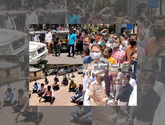 Navi Mumbai 'Mini Lockdown' met with angry protests