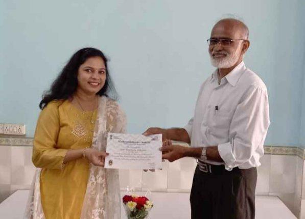 Ayush Mantralaya appreciates Kharghar Yoga Instructor Darshana Chhipani