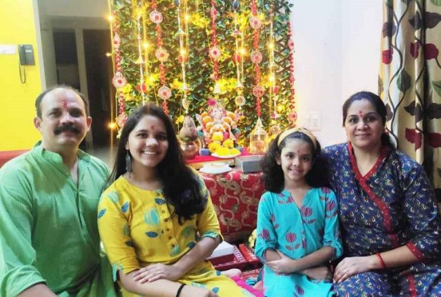 Humble Ganesh Utsav celebrations in Navi Mumbai Homes