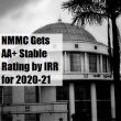 IRR gives AA+ Stable Rating to NMMC for excellent financial performance 2020-21