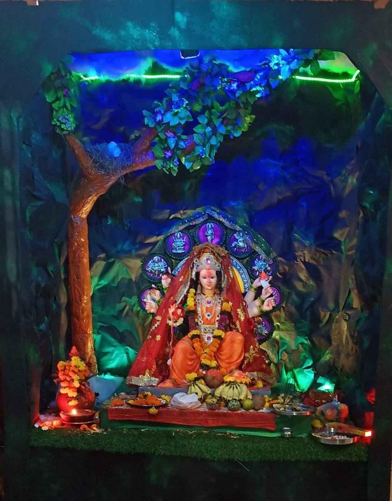 Glimpse of Navratri celebrations in Navi Mumbai 2021 - Jay Ambe Mitra Mandal, Turbhe Store
