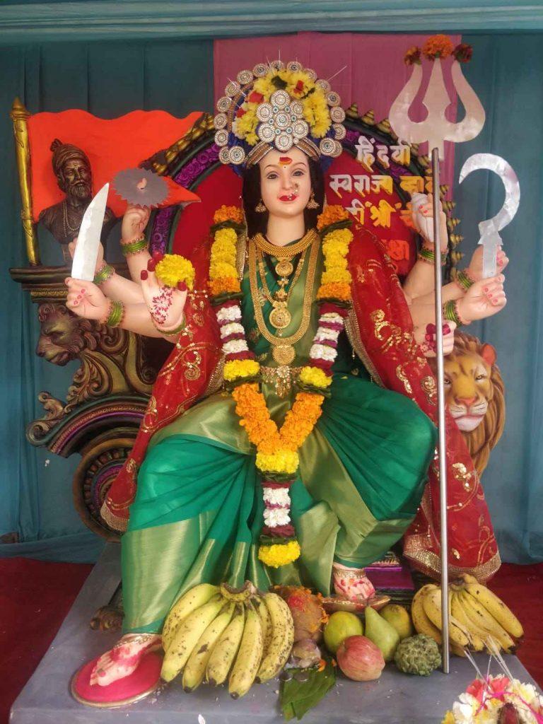 Glimpse of Navratri celebrations in Navi Mumbai 2021 - Sarmai Mitra Mandal, Turbhe Store