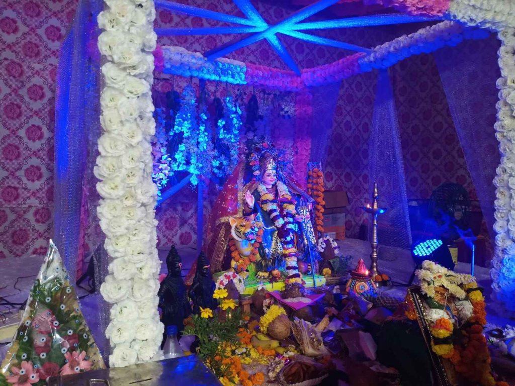 Glimpse of Navratri celebrations in Navi Mumbai 2021 - Sarsole Durga Pandal, Nerul