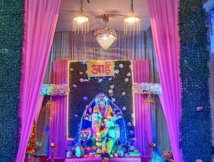 Glimpse of Navratri celebrations in Navi Mumbai 2021 - Shetkari Kamgar Paksh & Aamhi Ulwekar, Sector 17, Ulwe