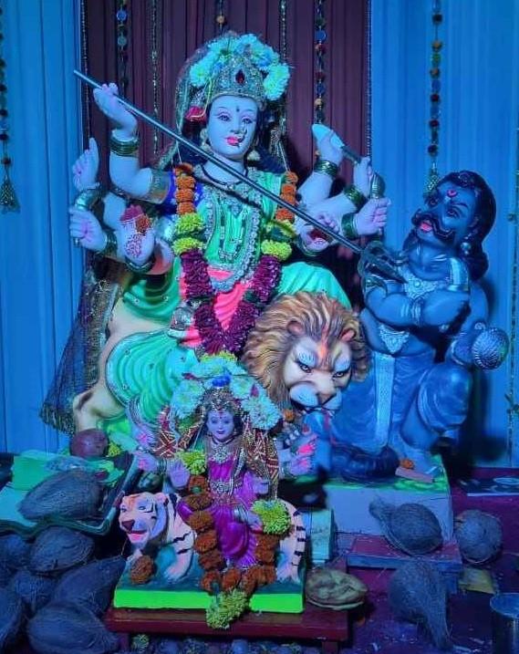 Glimpse of Navratri celebrations in Navi Mumbai 2021 - Shri Mata Lakshmi Mandal Seva Trust, Turbhe Store